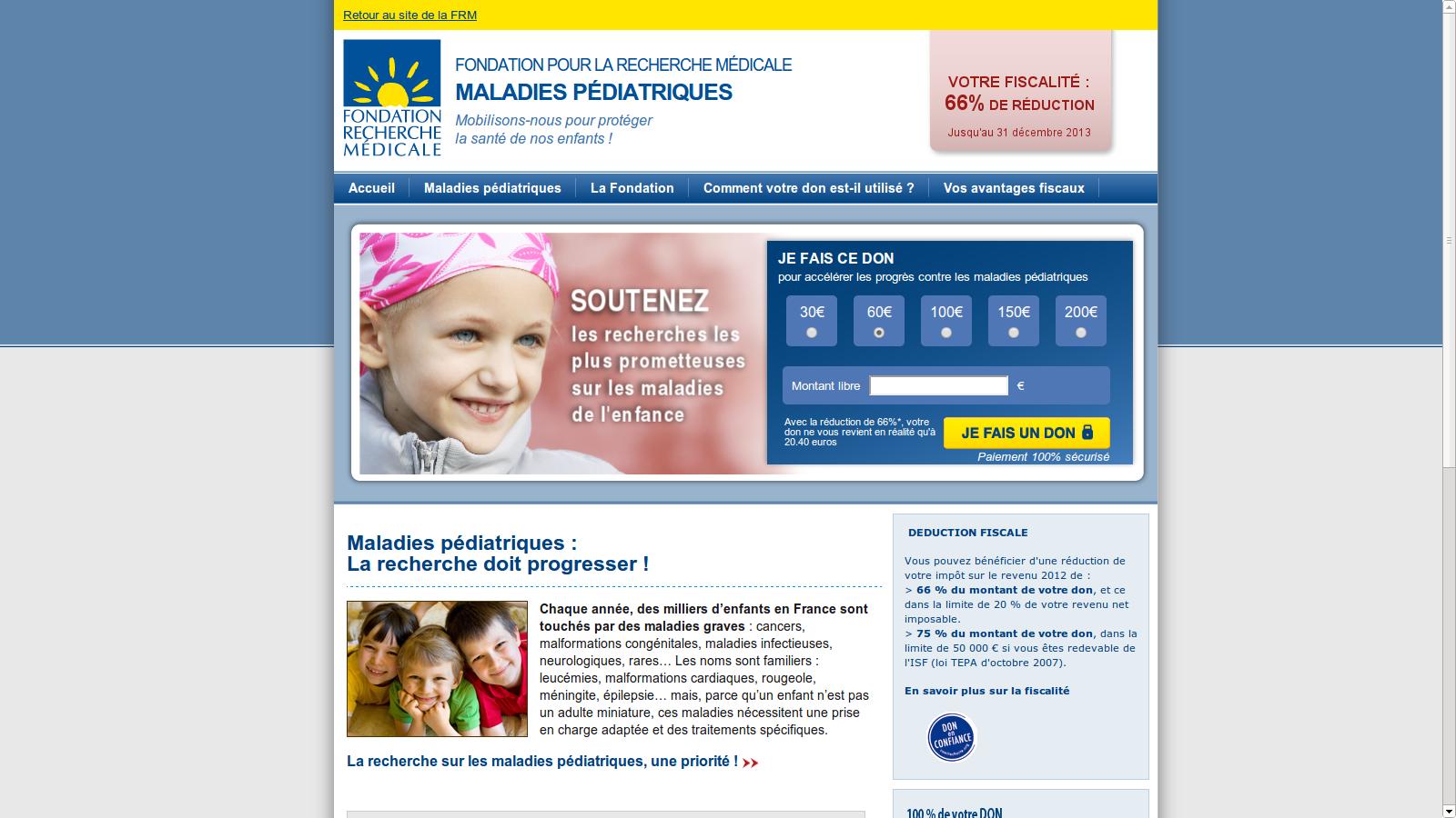 site internet FRM : Maladies pédiatriques